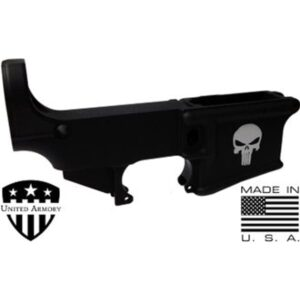 AR-15 80% Forged Lower Receiver - PUNISHER BLACK