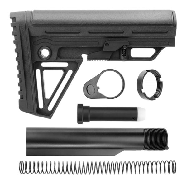 ALPHA AR15 MIL-SPEC 6-POSITION STOCK ASSEMBLY KIT (BLACK)