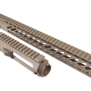 "AR15 STRIPPED BILLET UPPER RECEIVER & 15"" ULTRALIGHT SERIES KEYMOD HANDGUARD COMBO SET (FLAT DARK EARTH)"