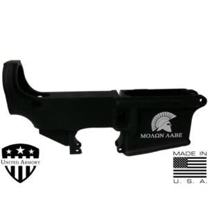 AR-15 80% Forged Lower Receiver - SPARTAN MOLON LABE