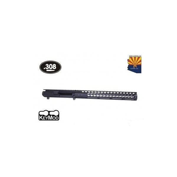 "AR .308 CAL STRIPPED BILLET UPPER RECEIVER & 15"" ULTRALIGHT SERIES KEYMOD HANDGUARD COMBO SET"