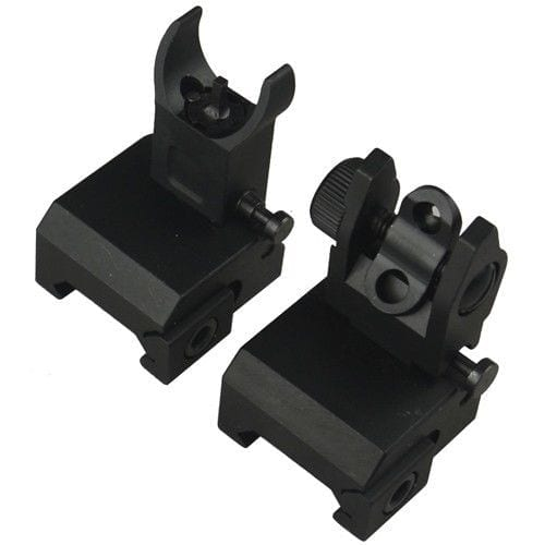 AR-15 FLIP UP FRONT AND REAR SIGHT VERSION 2 ALUMINUM MICRO