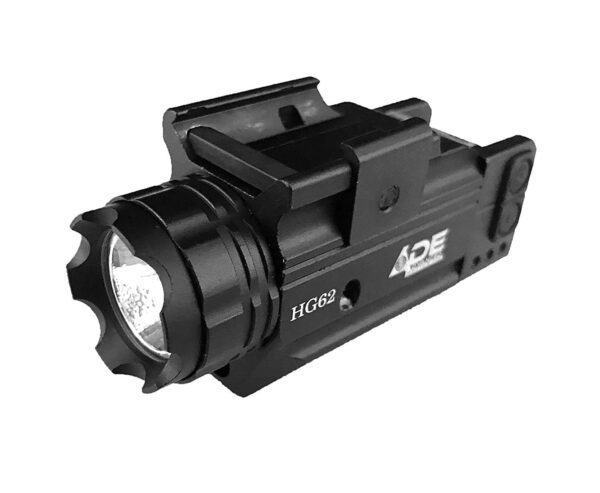HG62 Green Laser Flashlight Combo with Strobe for Pistol